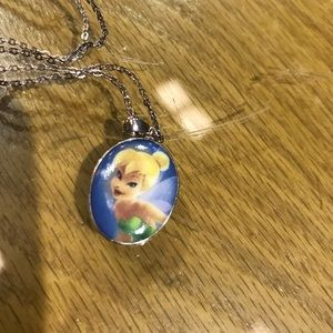 Disney Tinkerbell Sterling Silver Necklace